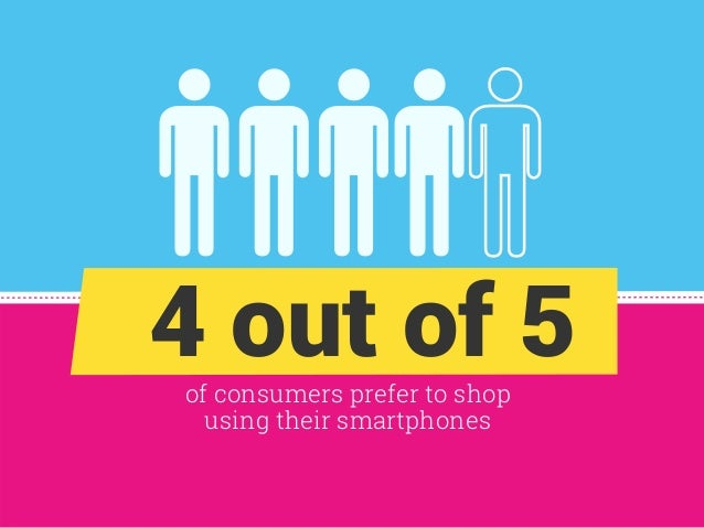 of consumers prefer to shop using their smartphones 4 out of 5