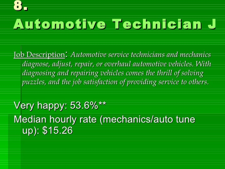 Automotive Service Technician Job Description - Madrat.Co