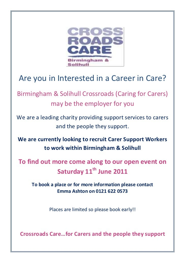 <br />Are you in Interested in a Career in Care?<br />Birmingham & Solihul...