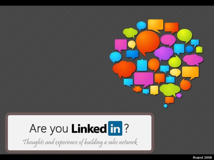 Are you                                   ?Thoughts and experience of building a sales network                            ...