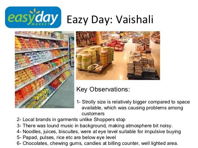 Eazy Day: Vaishali                            Key Observations:                            1- Strolly size is relatively b...