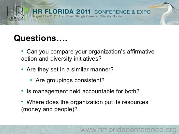 organizational diversity affirmative action and diversity B affirmative action does not alter organizational structures, and diversity does c affirmative action is legally mandated in all private companies d diversity has a broader focus- correct  which of the following diversity practices is a special kind of mentoring.