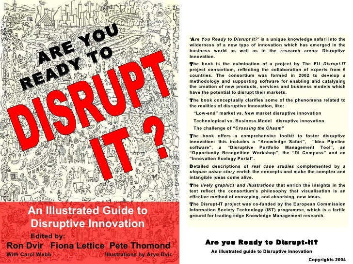 ARE YOU  READY TO An Illustrated Guide to Disruptive Innovation ARE YOU  READY TO An Illustrated Guide to Disruptive Innov...