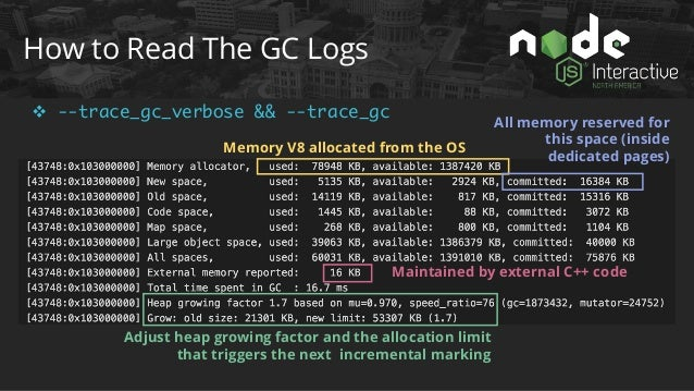 How to Read The GC Logs v --trace_gc_nvp ms=Mark-Sweep, s=Scavenge
