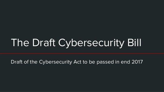 Are you the I in CII? Cybersecurity Bill public consultation