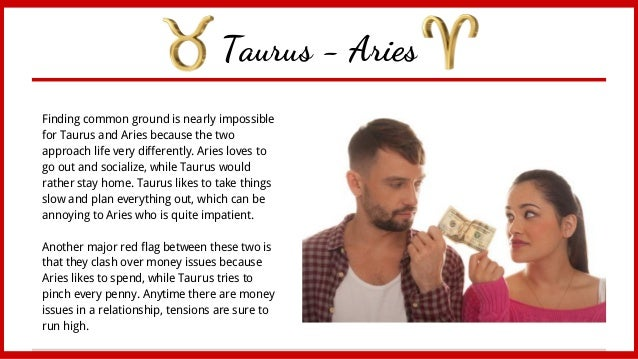 aries woman and taurus man love dating