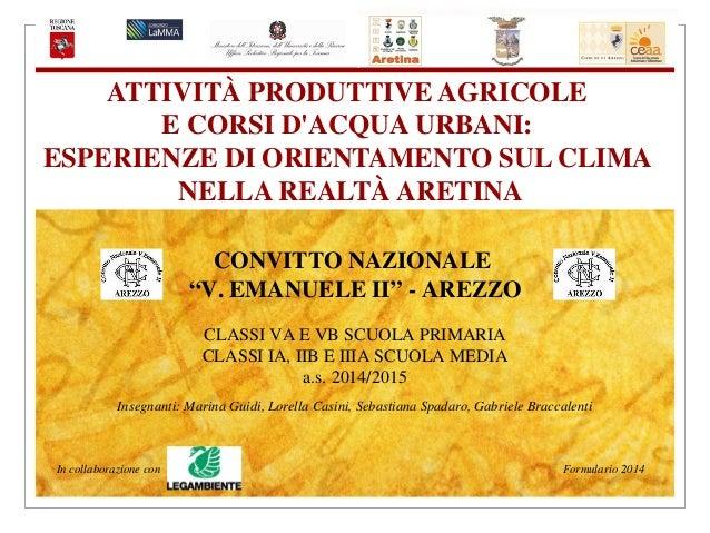 Attivit 192 Produttive Agricole E Corsi D Acqua Urbani