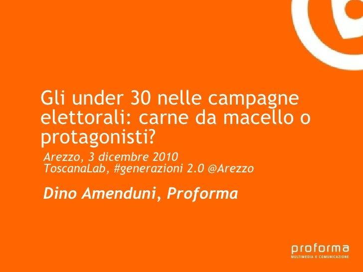 Strategia di comunicazione Gianni Florido e la Provincia di Taranto Gli under 30 nelle campagne elettorali: carne da macel...