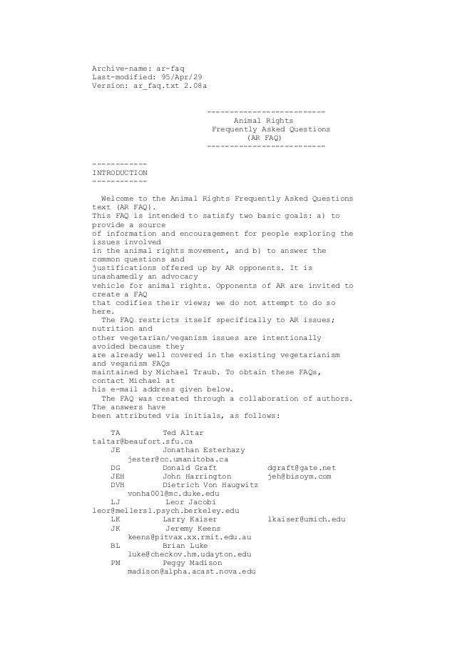 Archive-name: ar-faqLast-modified: 95/Apr/29Version: ar_faq.txt 2.08a                         --------------------------  ...