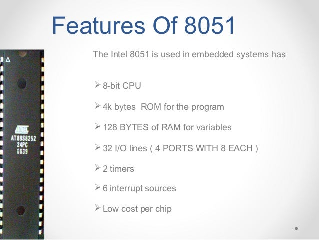 embedded systems, 8051 microcontroller