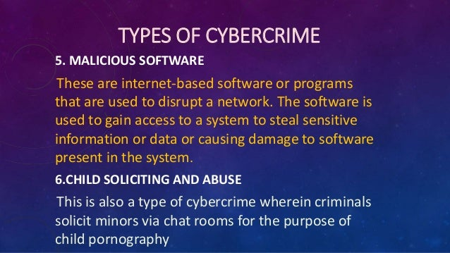 effects of cyber crime
