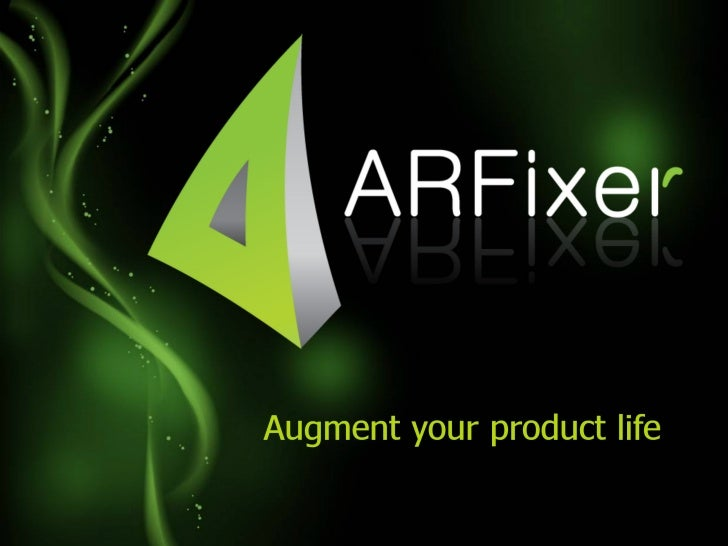ARfixer technology presentation, Augmented reality apps presentation.