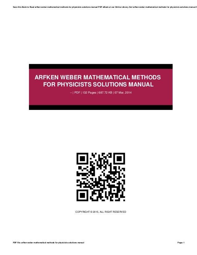 Arfken Weber Mathematical Methods For Physicists Solutions