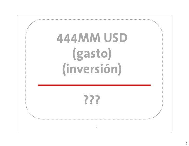 444MM USD                  (gasto)                (inversión)                   ???|-multitag-|         5        www.multi...