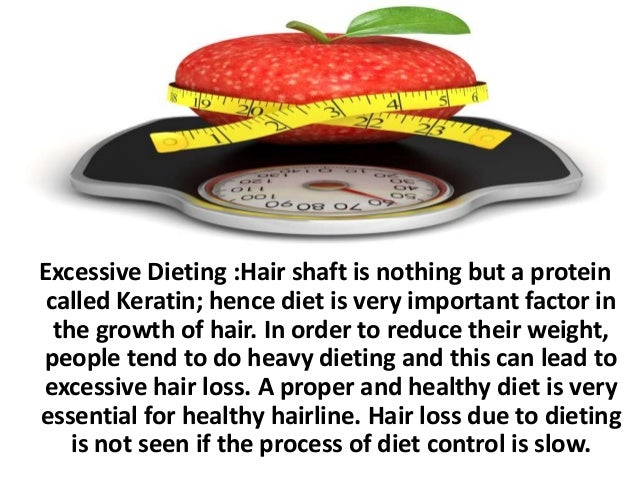 Excessive Dieting :Hair shaft is nothing but a protein called Keratin; hence diet is very important factor in the growth o...