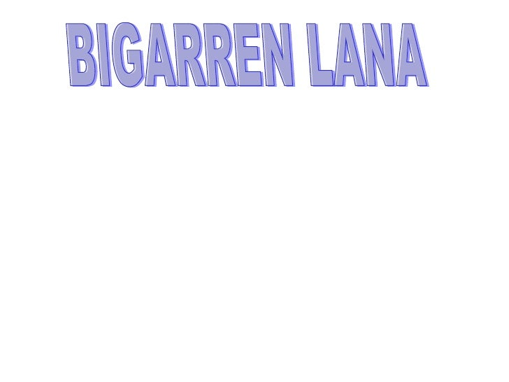BIGARREN LANA