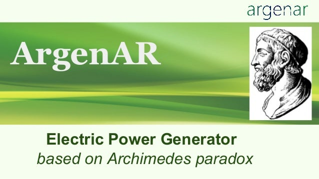 ArgenAR Electric Power Generator based on Archimedes paradox