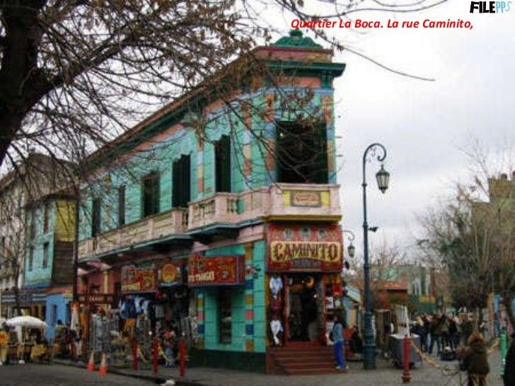 Quartier La Boca. La rue Caminito,