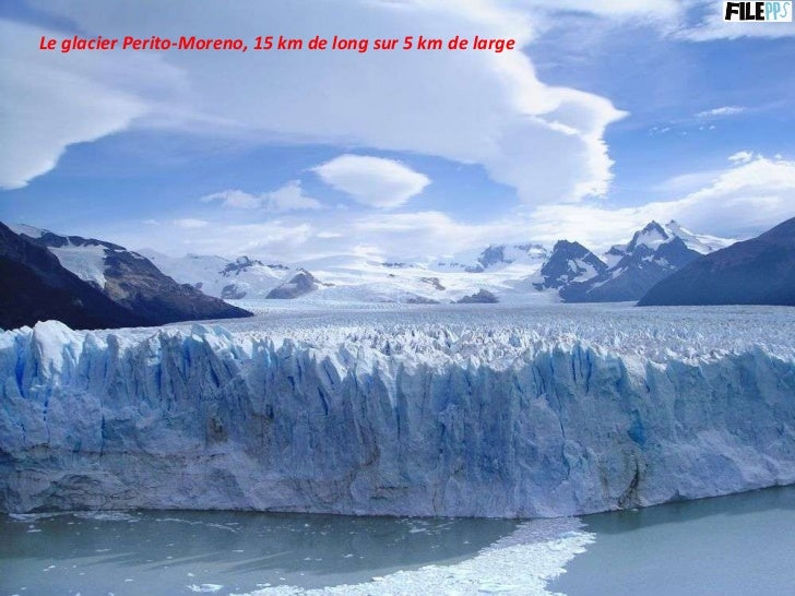 Le glacier Perito-Moreno, 15 km de long sur 5 km de large