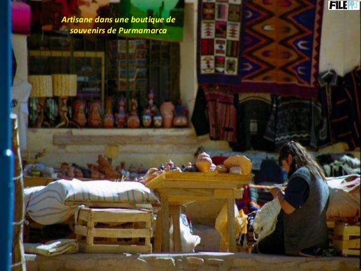 Artisane dans une boutique de souvenirs de Purmamarca