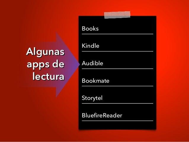 Books Kindle Audible Bookmate Storytel BluefireReader Algunas apps de lectura