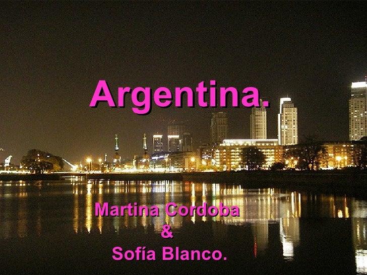 Argentina. Martina Cordoba  &  Sofía Blanco.