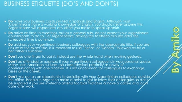 Argentina business business etiquette reheart Image collections