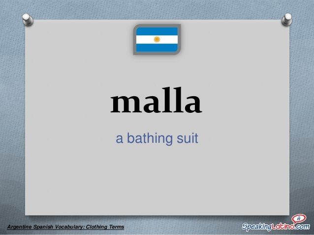 mañanita a shawl  Argentine Spanish Vocabulary: Clothing Terms