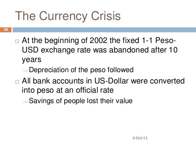 argentine crisis The usdars increased 00900 or 033% to 276100 on wednesday july 18 from 275200 in the previous trading session historically, the argentinean peso reached an all.