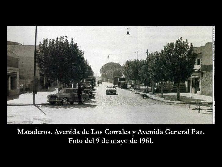 Mataderos. Avenida de Los Corrales y Avenida General Paz. Foto del 9 de mayo de 1961.