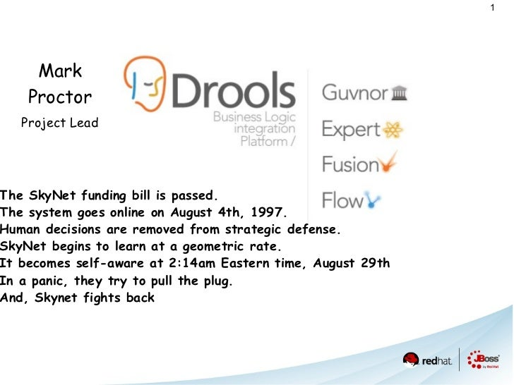 Mark   Proctor Project Lead <ul><li>T he SkyNet funding bill is passed.