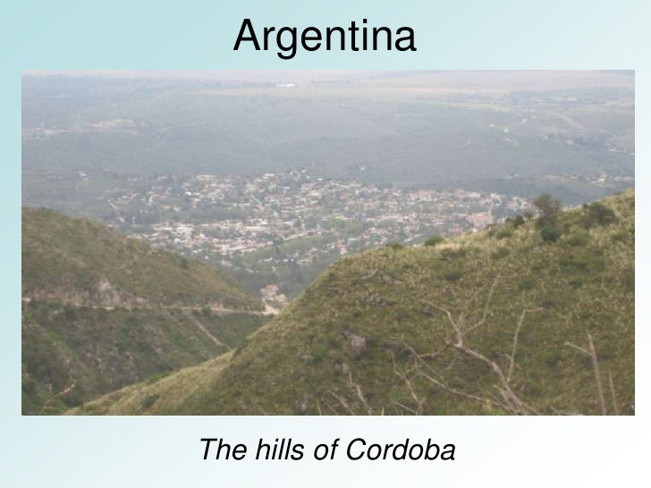 Argentina     The hills of Cordoba