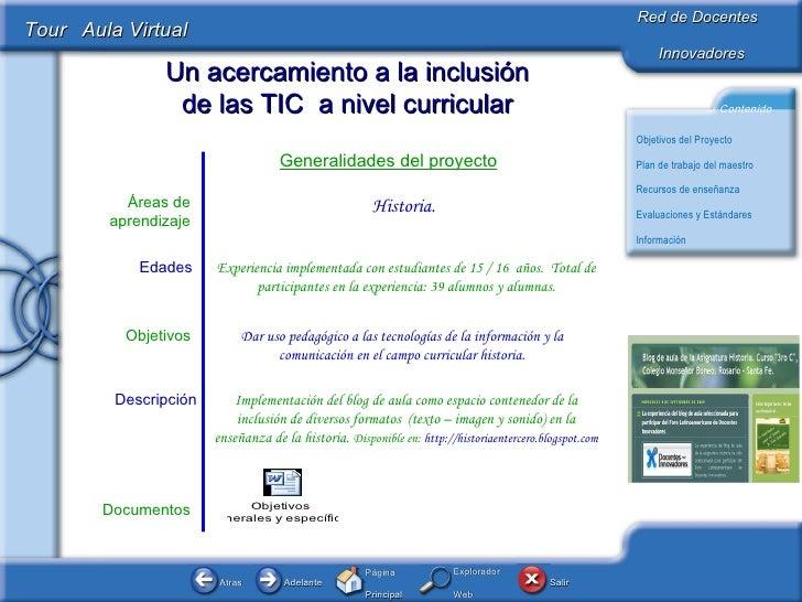 Documentos Dar uso pedagógico a las tecnologías de la información y la comunicación en el campo curricular historia. Objet...
