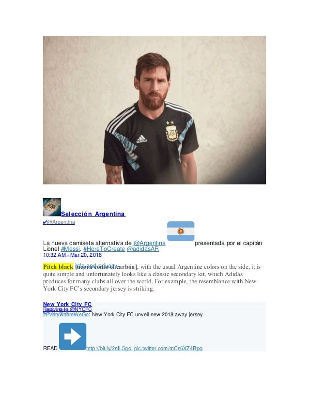 aa47e5e40 Argentina Unveils its Second World Cup Jersey