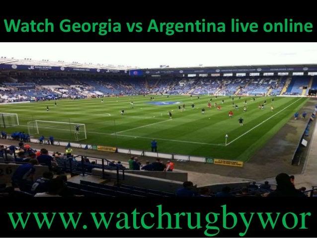 Watch Georgia vs Argentina live online www.watchrugbywor