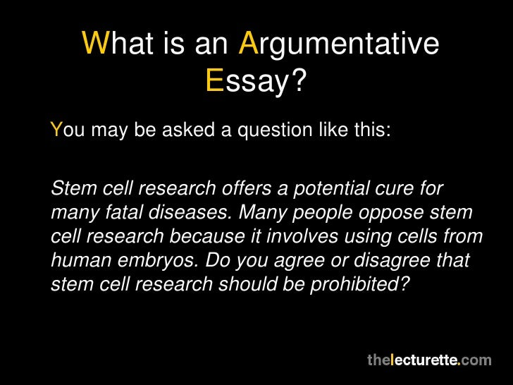 stem cell research argumentative paper The importance of stem cell research - stem cell research is a topic almost everybody in the world has a viewpoint on many view the issue of stem cell research and stem cell therapy as morally wrong and a crime against humanity, others view the study of stem cells as the next step in modern science.