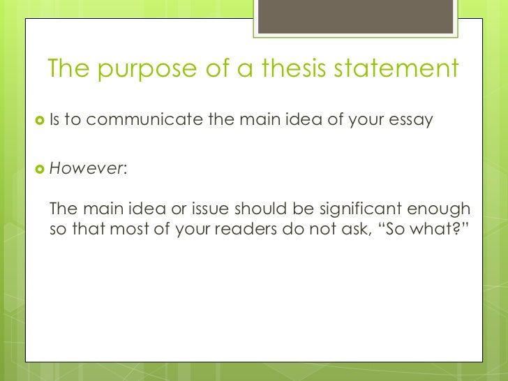 creating an arguable thesis statement Writing thesis statements upon successful completion of this lesson, you should be able to: • distinguish an arguable thesis from a statement of fact.