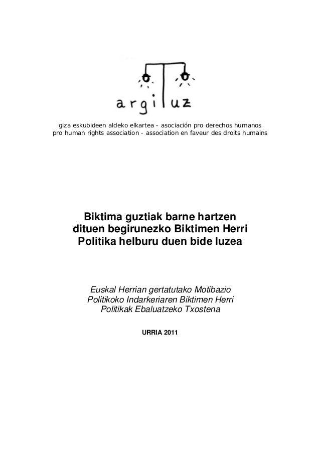 giza eskubideen aldeko elkartea - asociación pro derechos humanos pro human rights association - association en faveur des...