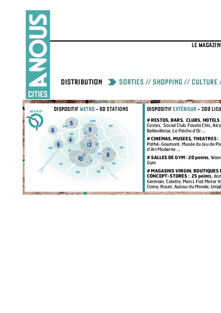 A NOUS CITIES                                                         LE MAGAZINE QUI VA VOIR AILLEURS >>>  DISTRIBUTION  ...