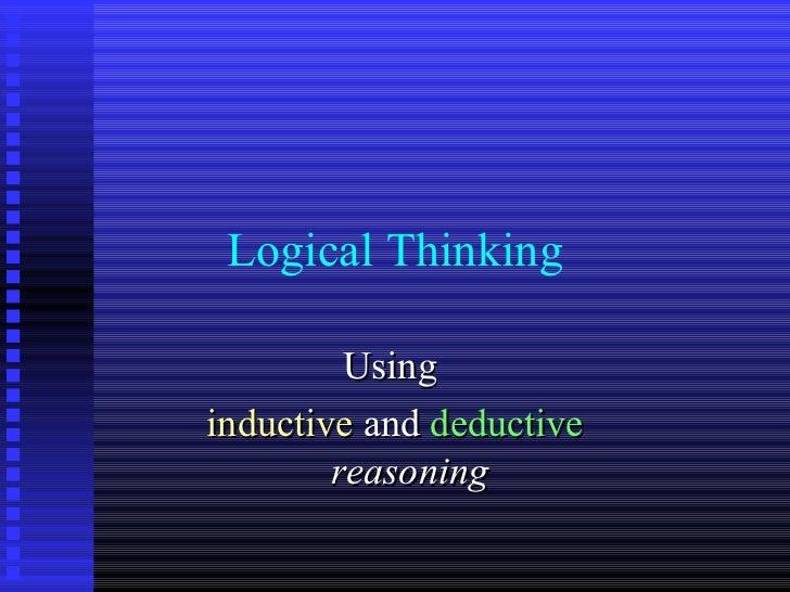 Inductive vs deductive essays