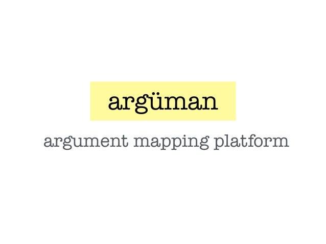 argüman argument mapping platform