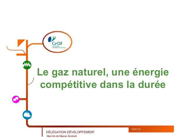 Le gaz naturel, une énergie compétitive dans la durée                             14/01/13 DÉLÉGATION DÉVELOPPEMENT  March...