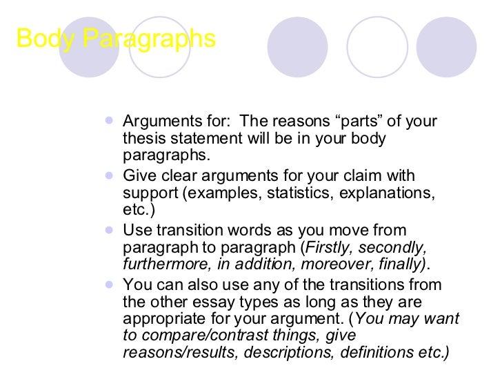 argumentation essays