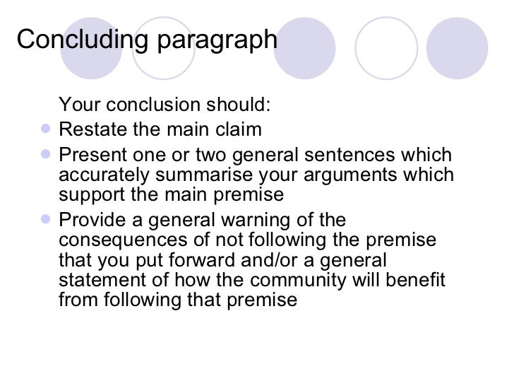concluding sentence for argumentative essay Outline structure for literary analysis essay i catchy title a summarize your argument clincher/concluding sentence - last sentence of the body paragraph.