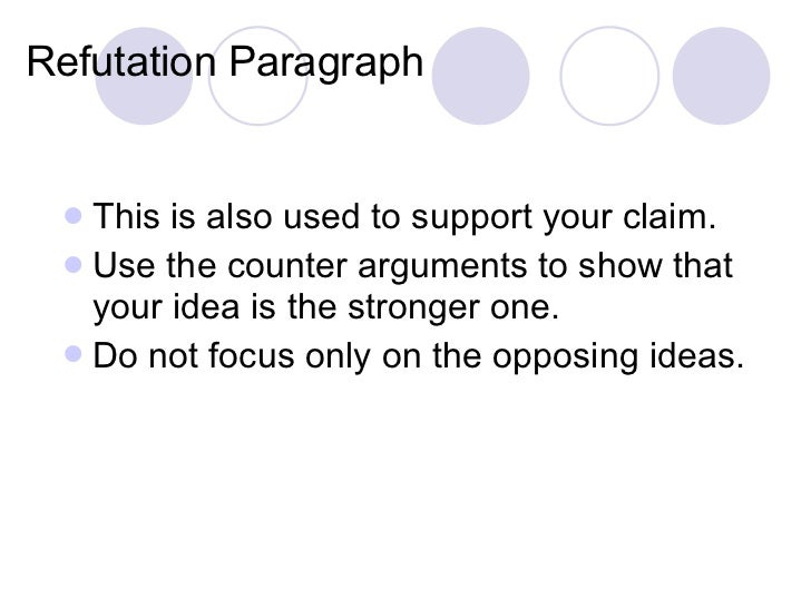 argumentative essay refutation paragraph