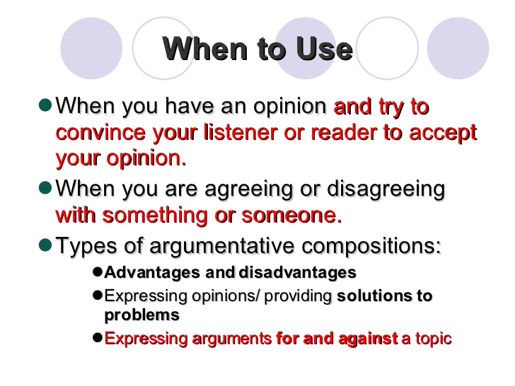 Essay of argumentation