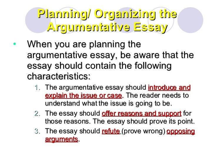argument analysis essay structure