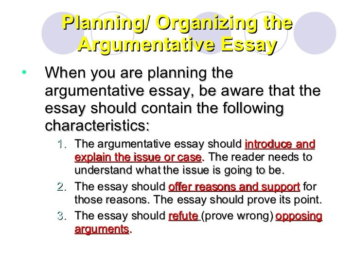 what are the features of an argumentative essay Argumentative essays can prove difficult for some students check out these tips and examples to help you write yours argumentative essay examples and tips.