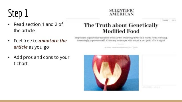 argumentative essay on gmos