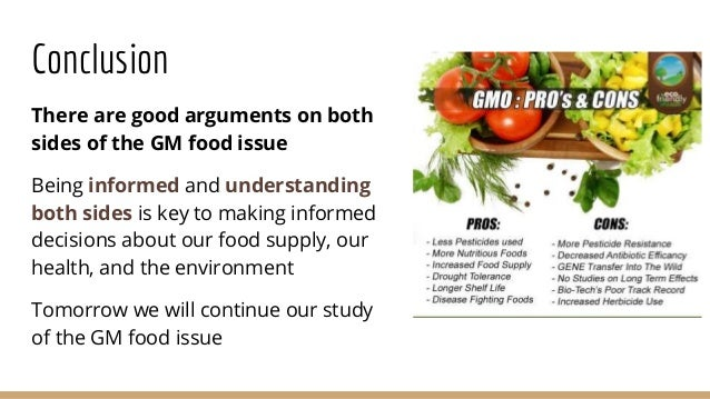 Argumentative essay about gmos